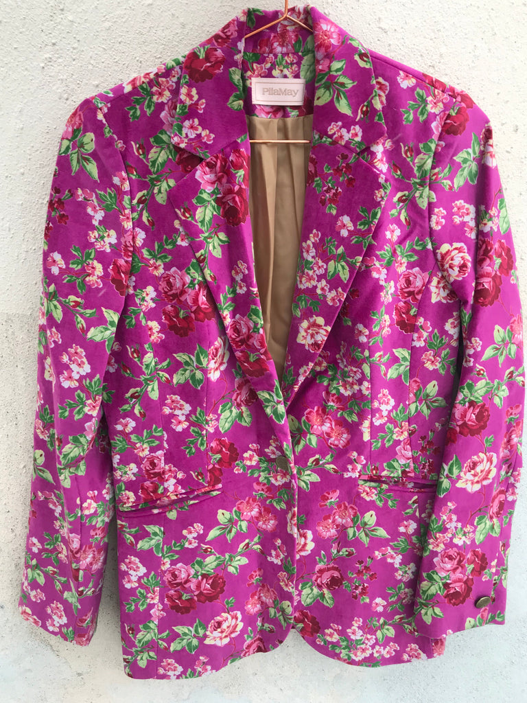 JACKET VELOUR FLOWERS