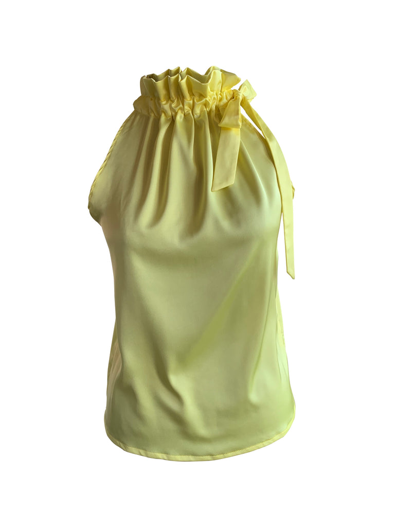 TOP YELLOW SILK