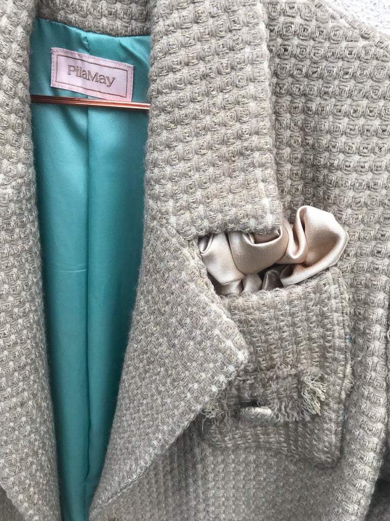 BOUCLE COAT LONG BEIGE