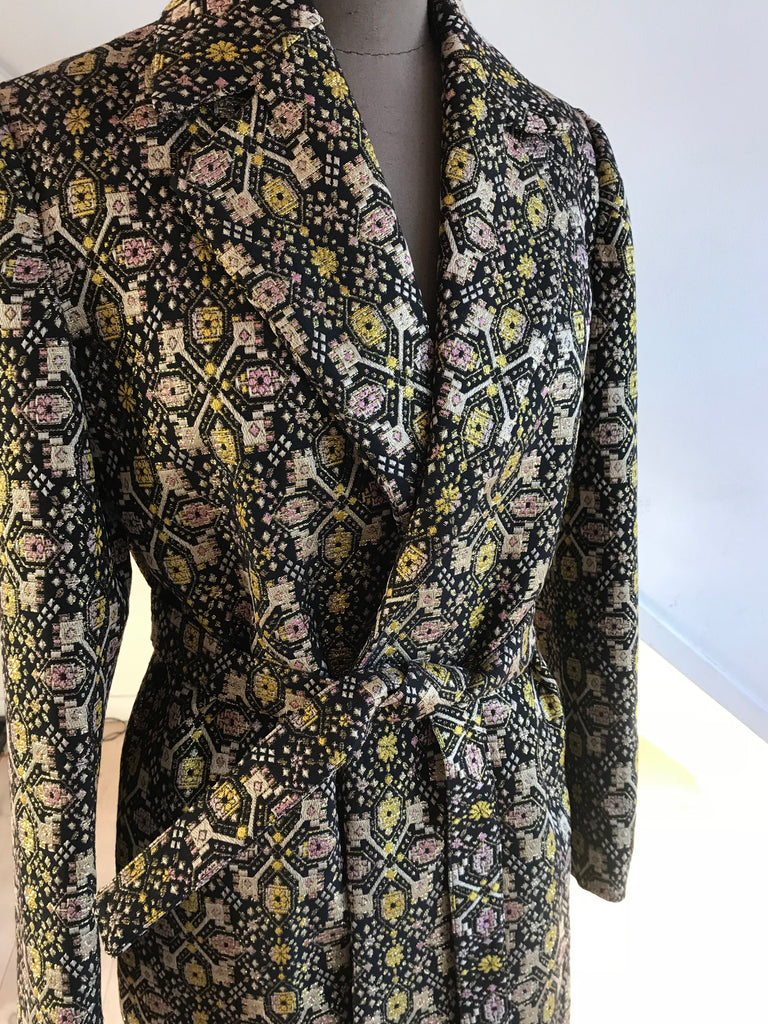 WRAP COAT BROCADE