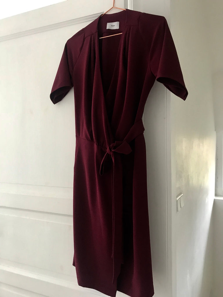 WRAP DRESS BORDEAUX