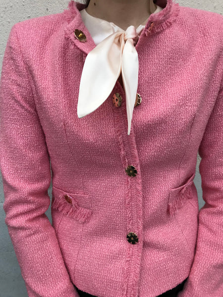 BOUCLE CORAL PINK JACKET