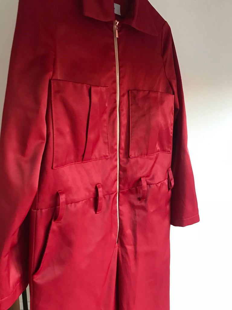 SUIT COVERALL RED
