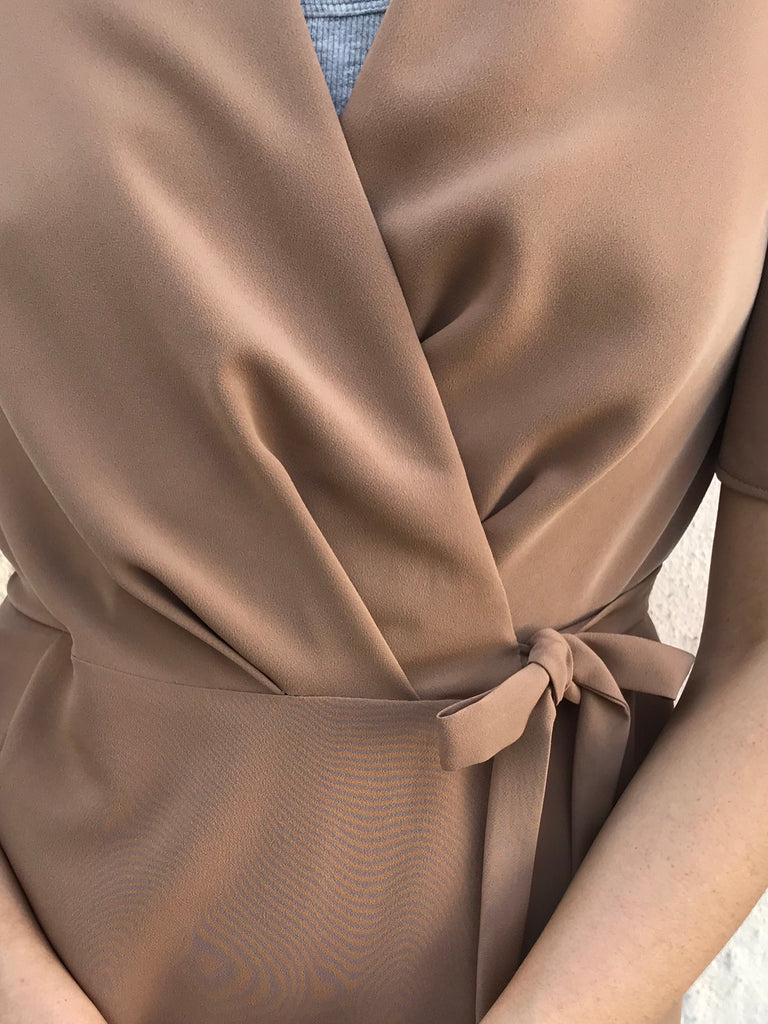 WRAPDRESS CAMEL