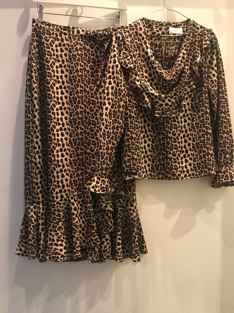 WRAP SKIRT LEOPARD