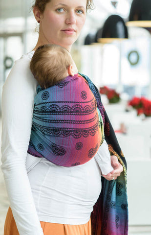 921ae4cabb9 Baby Carrier Ring Sling by Lennylamb - Rainbow Lace Dark