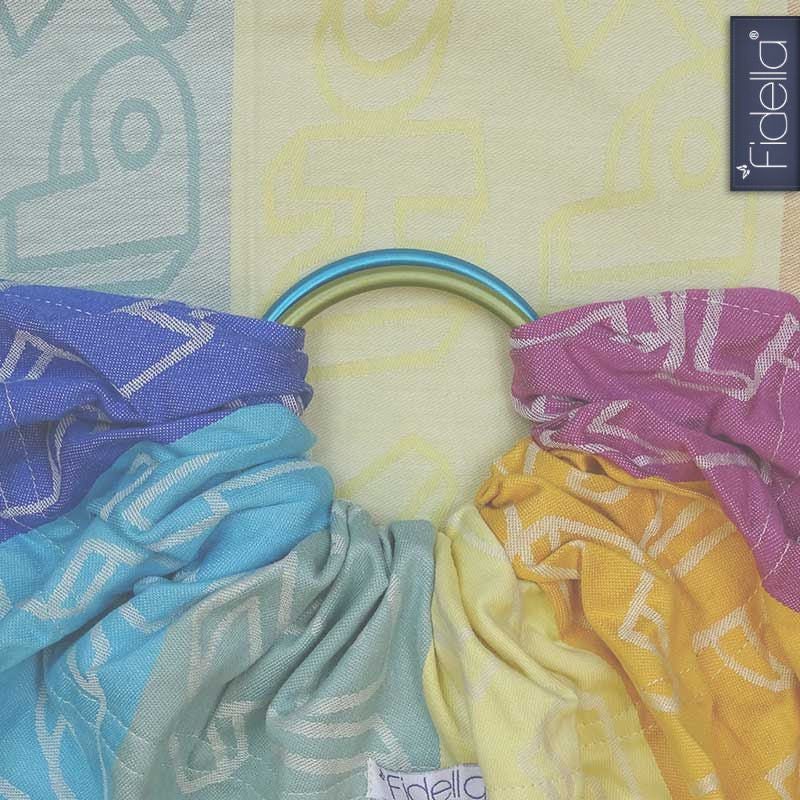 Baby Carrier Ring Sling by Fidella - Happy Colour Boom – Koala Momma 8d857cb5329