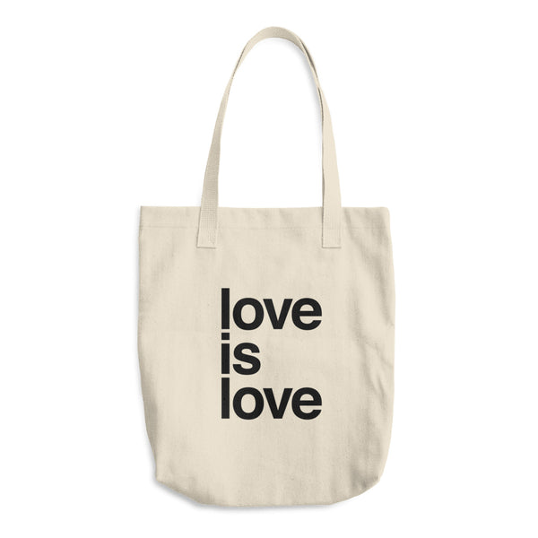 Organic Cotton Tote Bag: LOVE IS LOVE