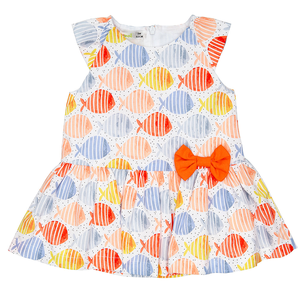 Babybol  Baby Cap Sleeved Cotton Dress
