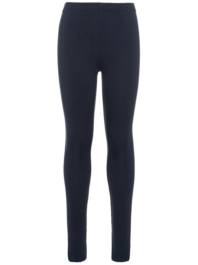 Name it Girls Solid Navy Organic Cotton Leggings FRONT