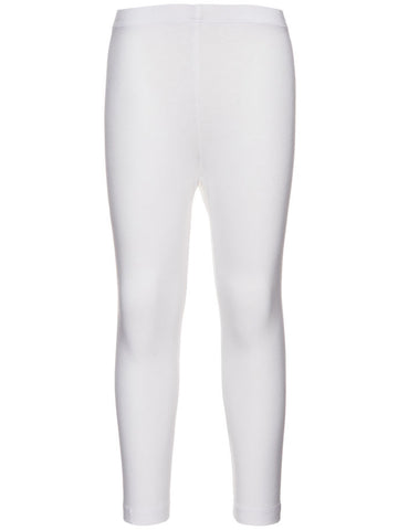 Name it Girls Organic Cotton Capri Leggings in White FRONT