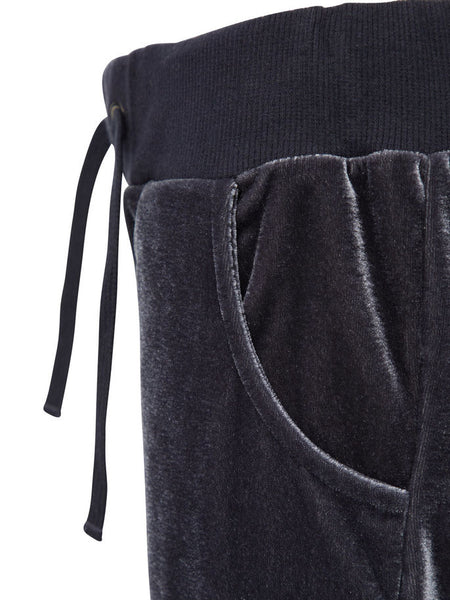 Name it Girls Dark Grey Velour Pants drawstring