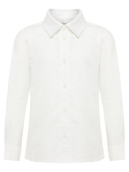 Name it Boys White Slim Fit Long Sleeved Shirt