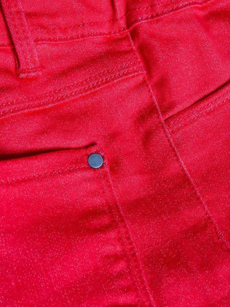Name it Girls Skinny Fit Red Twill Pants POCKETS