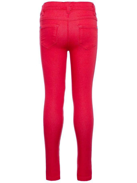Name it Girls Skinny Fit Red Twill Pants BACK