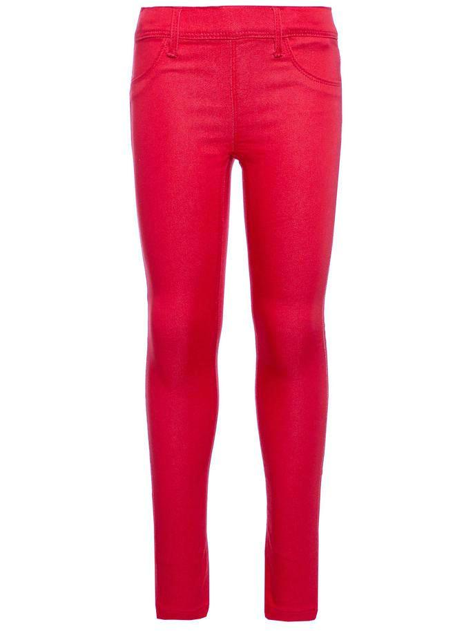 Name it Girls Skinny Fit Red Twill Pants FRONT