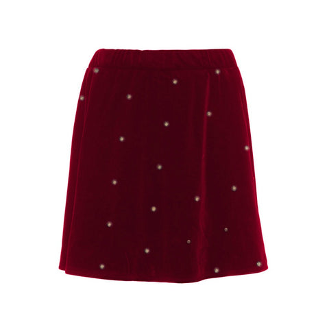 Name it Girls Red Velvet Skirt With Gold Glitter