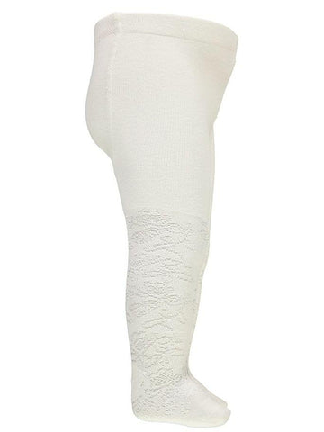 Name it Baby Girl Solid White Tights SIDE