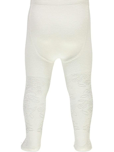 Name it Baby Girl Solid White Tights BACK
