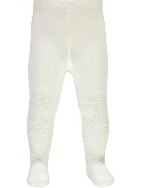 Name it Baby Girl Solid White Tights FRONT