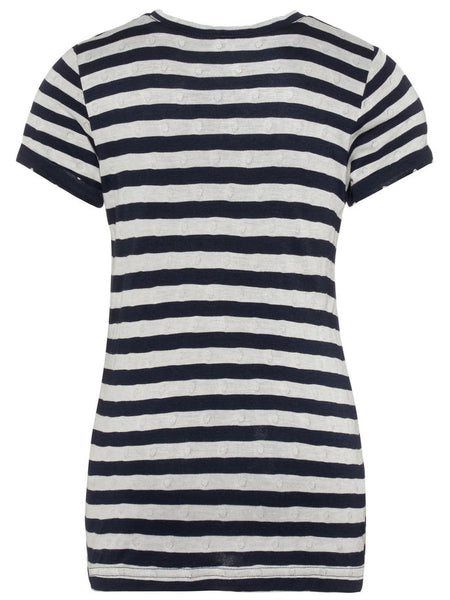 Name it Girls T-Shirt with Stripes BRIGHT WHITE BACK