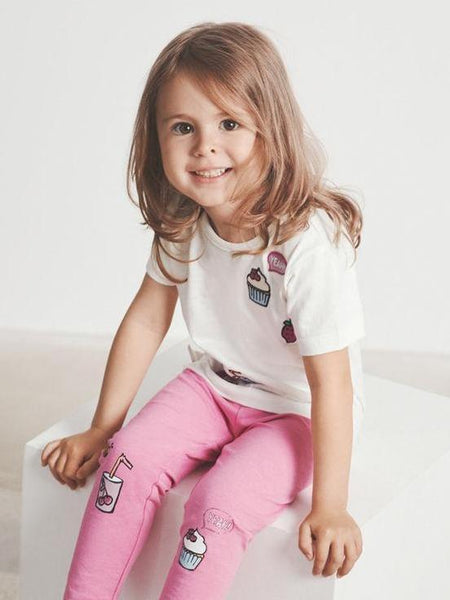 Name it Mini Girl T-Shirt with Colourful Motifs