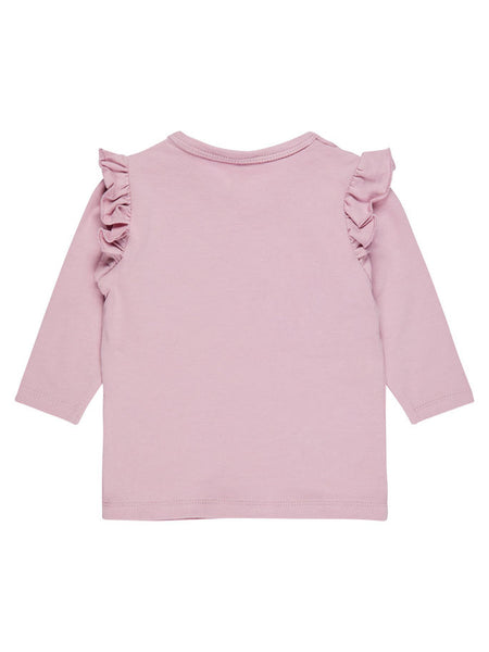 Name it Baby Girl I Love You BERRY Much Long Sleeved Top DAWN PINK BACK