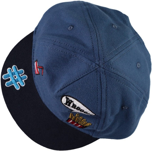 Name it Mini Boy Baseball Hats with Badges DELFT SIDE VIEW