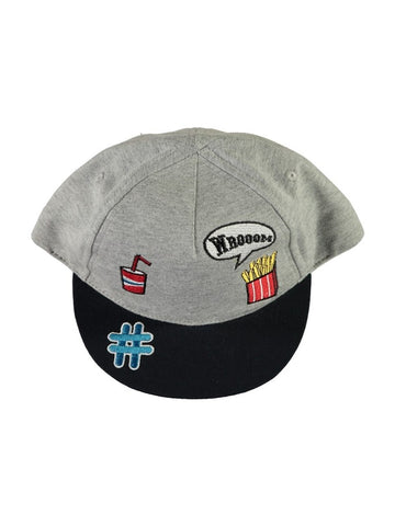 Name it Mini Boy Baseball Hats with Badges GREY MELANGE
