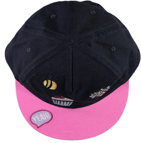 Name it Mini Girl Baseball Cap with Motifs DARK SAPPHIRE FRONT VIEW