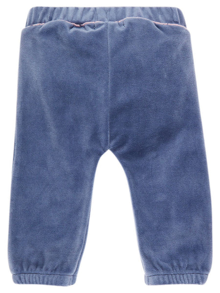 Name it Baby Girl Velour Pants VINTAGE INDIGO BACK