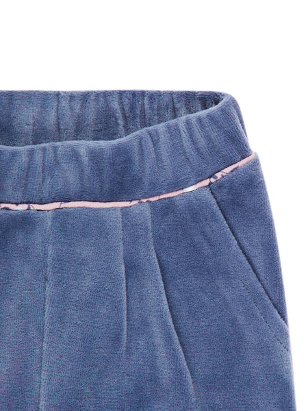 Name it Baby Girl Velour Pants VINTAGE INDIGO WAIST