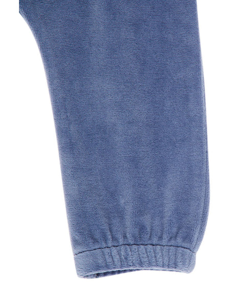 Name it Baby Girl Velour Pants VINTAGE INDIGO LEG