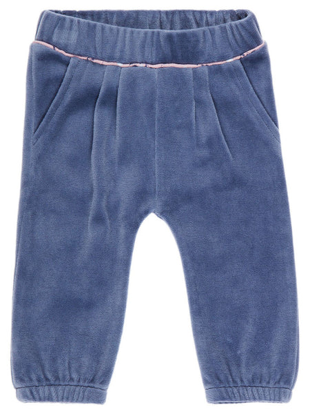 Name it Baby Girl Velour Pants VINTAGE INDIGO FRONT