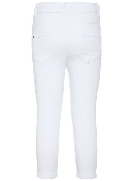 Name it Girls Twill Capri Crop Trousers in WHITE BACK