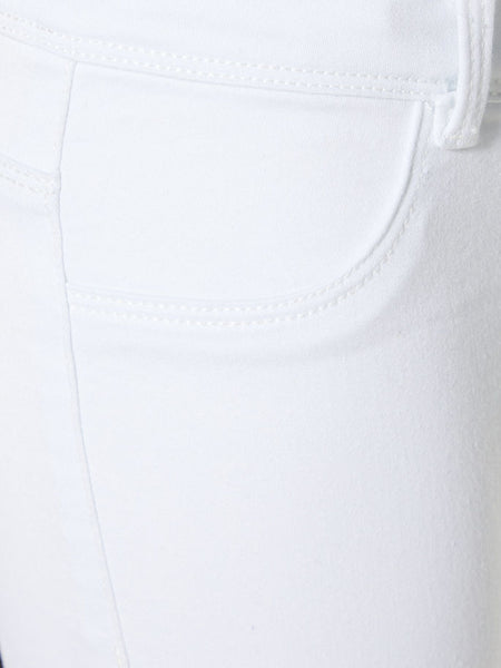 Name it Girls Twill Capri Crop Trousers in WHITE MOCK POCKET