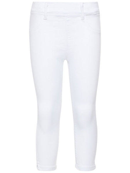 Name it Girls Twill Capri Crop Trousers in WHITE FRONT