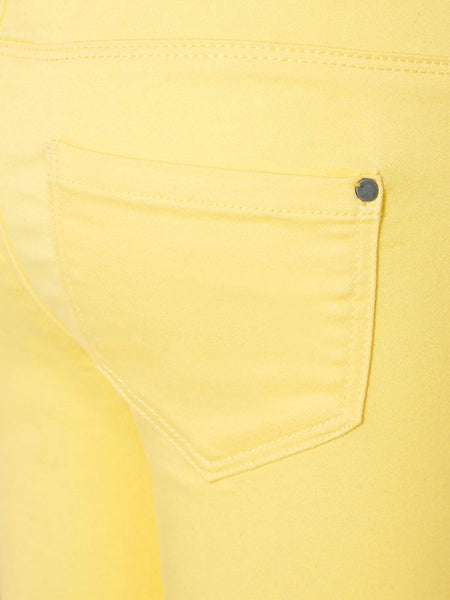 Name it Girls Twill Capri Crop Trousers in YELLOW BACK POCKET