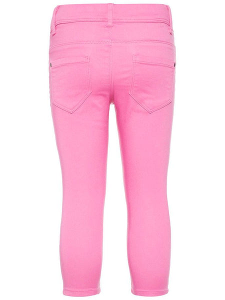Name it Girls Twill Capri Crop Trousers in Pink BACK