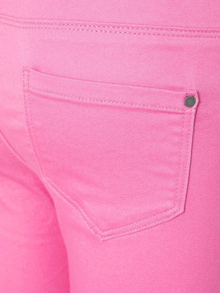 Name it Girls Twill Capri Crop Trousers in Pink BACK POCKET