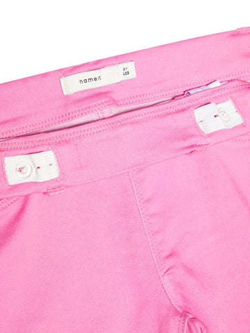 Name it Girls Twill Capri Crop Trousers in Pink ADJUSTABLE WAIST