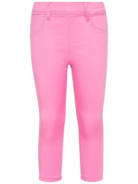 Name it Girls Twill Capri Crop Trousers in Pink FRONT