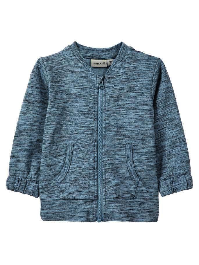Baby Boy Zip Up Organic Cotton Light Sweat Cardigan