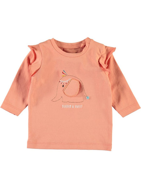 Name it Baby Girl Long Sleeved Summer & Sweet Top with Elephant FRONT