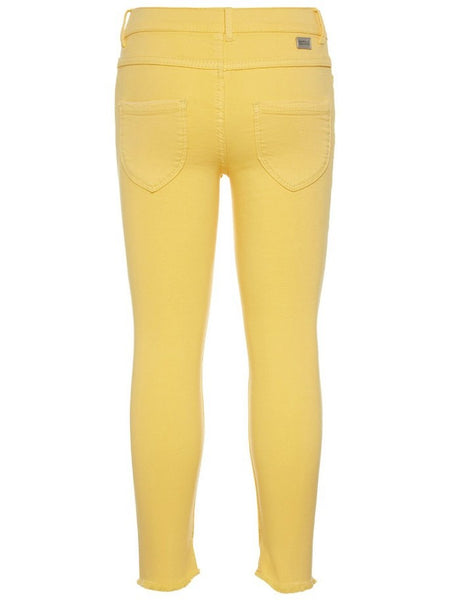 Name it Girls Skinny Fit Twill Ankle Pants in Yellow BACK