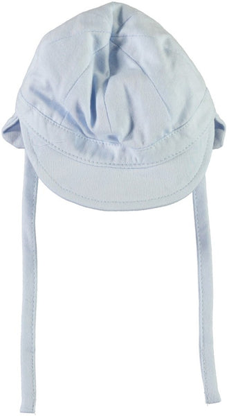 Name it Baby Boy Blue Hat with Shade & Drawstring FRONT