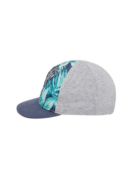 Name it Mini Boy Cap with Tiger Print in Grey SIDE