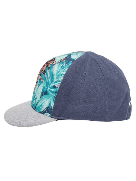 Name it Mini Boy Cap with Tiger Print in Indigo SIDE