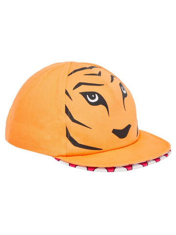 Name it Mini Boy Orange Tiger Cap with Mouth FRONT SIDE