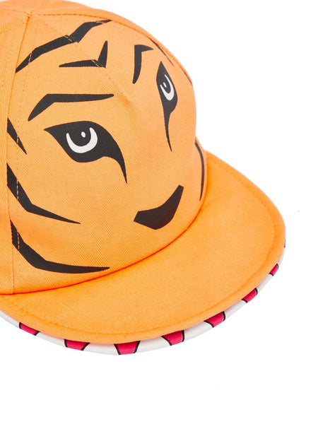 Name it Mini Boy Orange Tiger Cap with Mouth CLOSE UP